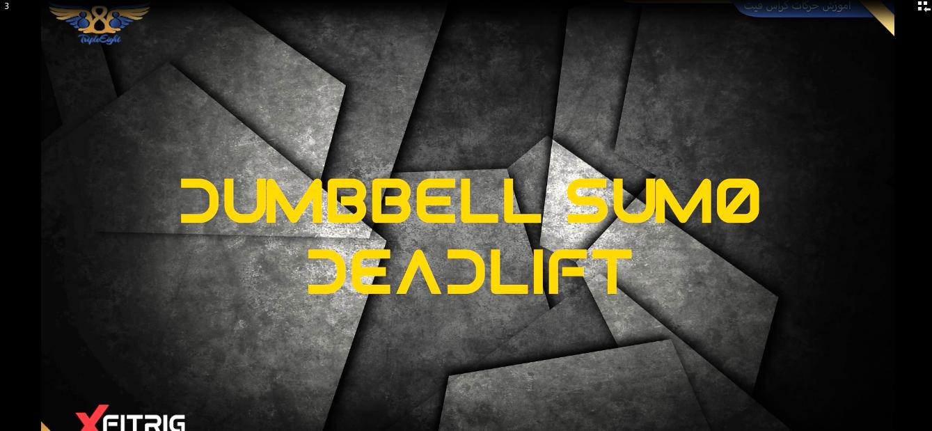 DUMBBELL SUMO DEADLIFT